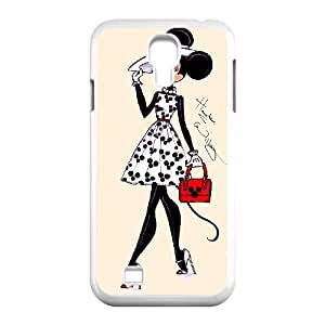 T-TGL(RQ) Personalized Mickey Minnie Pattern Protective Hard Case for Samsung Galaxy S4 I9500