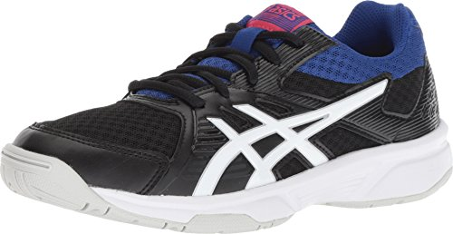 ASICS Women's Upcourt 3 Volleyball Shoes, Black/White, Size 9