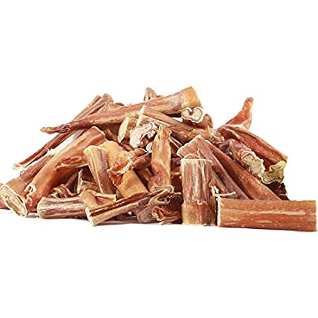 Odourless 0.5 lbs Hormone Free Bullystick All Beef pizzles for All-Sized Dogs Made in Canada Long Lasting Assorted Sizes BullyBites Standard - All Natural