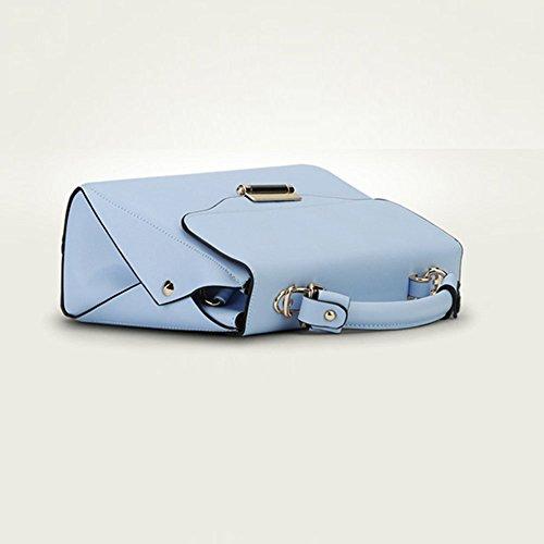 YipGrace Nuovo Donna Pelle Sacchetto Di Frizioni Borse Borse A Tracolla Trasversale Del Corpo Wristlets Blu