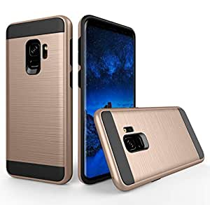 DHAO samsung Galaxy S9 Case Shockproof Protective Cover with Heavy Duty Dual layer Rugged Case Back Cover for samsung S9