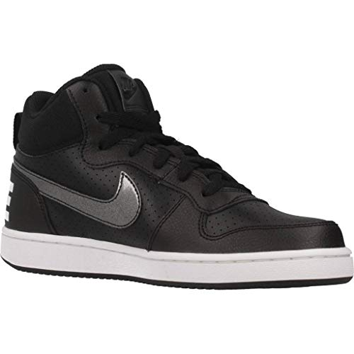 White gs Femme Mid Borough Noir Chaussures Nike Fitness De Court black 004 CUqawvF