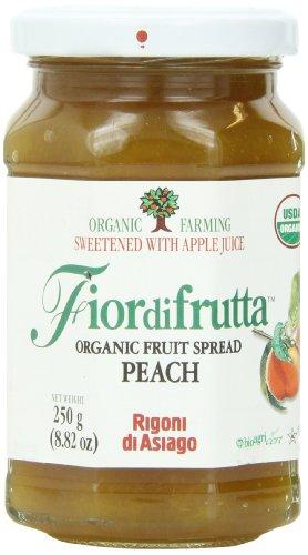 Rigoni Di Asiago Fiordifrutta Organic Fruit Spread, Peach, 8.82 Ounce