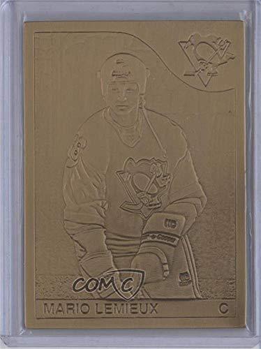 Mario Lemieux (Hockey Card) 1993 Highland Mint Rookie Bronze Reprints - [Base] #9