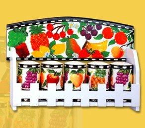 Fruit Delight Kitchen spice Jar