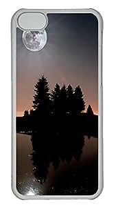 iPhone 5C Case Skyviews moon 5 PC iPhone 5C Case Cover Transparent