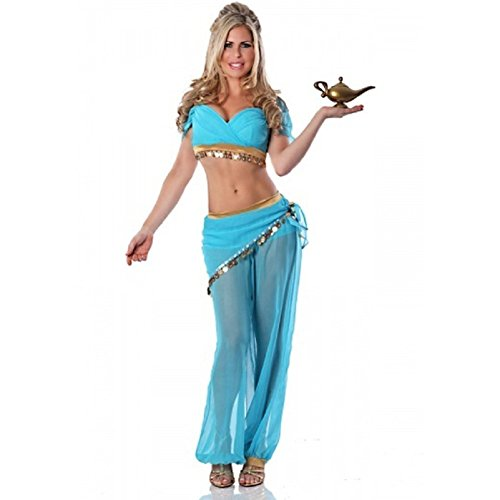 Mocona Women's Belly Dancer Arabian Nights (Arabian Nights Dance Costume)