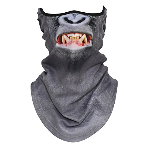 3D Animal Neck Gaiter Warmer Windproof Face Mask Scarf for Ski Halloween Costume(48)