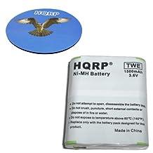 HQRP Battery for Motorola m53615 / 53615, KEBT-071-A, KEBT-071-B,KEBT-071-C, KEBT-071-D, HKNN4002A fits EM, FV500, FV600, FV800, FV800R, MC, MD, MJ, MR Series Two-Way Radio plus Coaster