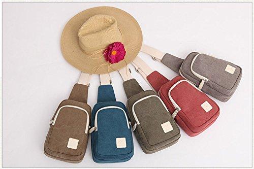Wewod Bolsa de Hombro Hombre,Bolso de Pecho,Chest Bag de Fashion,Bolsa Lona Crossbody,Mochila de Hombro 15 x 24 x 8 cm (L*H*W) Azul