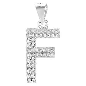 Aurora Women's Alphabet Pendant - Silver