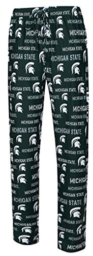 NCAA Michigan State Spartans Men's Scatter Pattern Pajama Pants 2XL 44-46 -