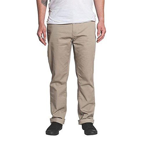 (KR3W Klassic Straight Fit Chino Pants Dark Khaki Size 32 Krew)