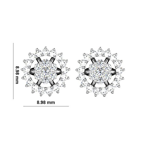 Libertini 0.39 Cts Diamond Earrings in 14KT White Gold (GH Color, PK Clarity)