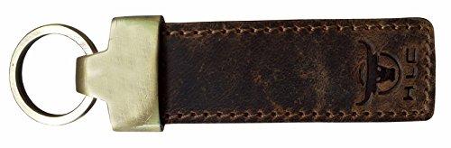 HLC+Genuine+Leather+Elegant+Multi+Ring+Crest+Leather+Key+Chain