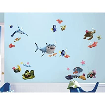 New FINDING NEMO WALL DECALS Kids Bathroom Bedroom Stickers Disney Room Decor