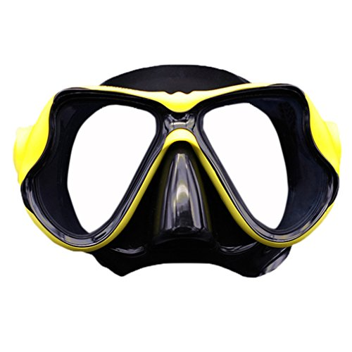f9458cd5716 Adults Youth No Leaking Watertight Anti-fog Swim Dive Snorkel Masks Safety  Glasses Wide Clear Vision Tempered Glass Lens Swimming Goggles Scuba Diving  ...