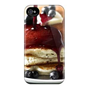Waterdrop Snap-on Pancakes With Jam And Berries Case For Iphone 4/4s