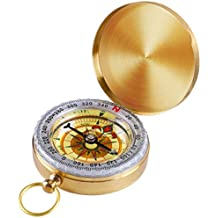 SharpSurvival Best Camping Survival Compass | Glow in The Dark Military Compass Survival Gear Compass
