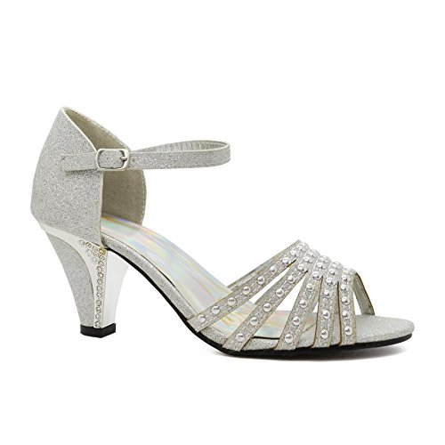 Jane Damen London Footwear Halbschuhe Silber Mary ZtFY7wq