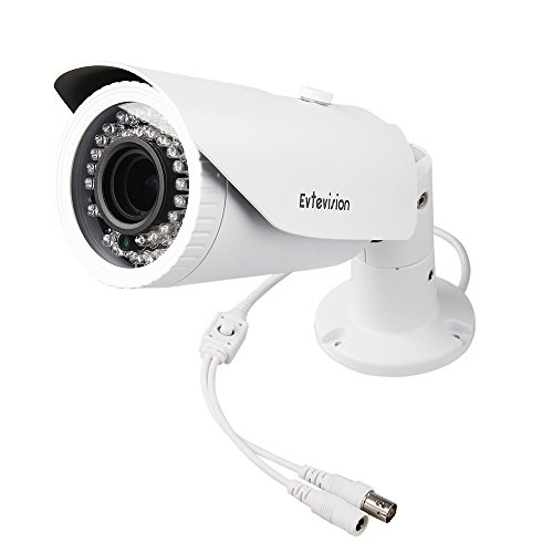 Evtevision 2.0MP 4-in-1(TVI+CVI+AHD+Analog) Outdoor Bullet Security Camera 42Leds IR Cut 1/2.7