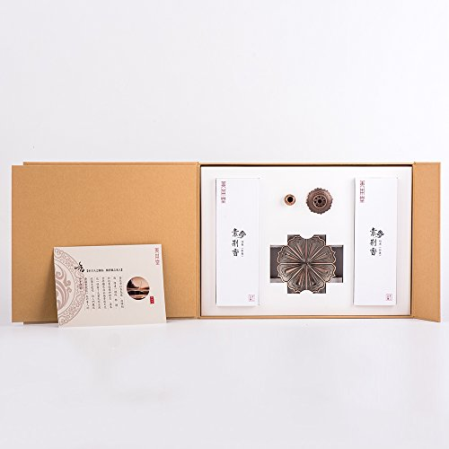 ShanBenTang Incense Sticks, Pure Natural Incense Stick Handmade, no Chemical added, Gift Packing with Lotus Incense Burner