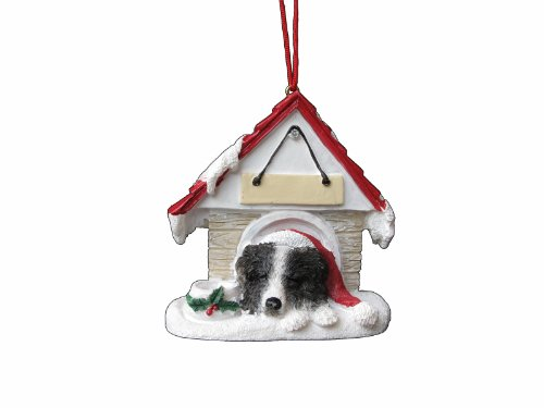 """Border Collie Ornament A Great Gift For Border Collie Owners Hand Painted and Easily Personalized """"Doghouse Ornament"""" With Magnetic Back Review"""
