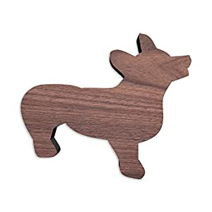 Welsh Corgi Shaped Artisan Cutting Board and Serving Board crafted from Thick and Gorgeous American Walnut Wood. Available in 12 IN x 10.27 IN x 3/4 IN. Thick Walnut Ideal for Long-term Use.