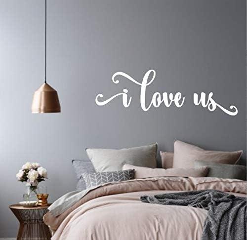 I Love Usi Love Us Vinyl Wall Decal Vinyl Wall Decal Master Bedroom Wall Decal Bedroom Wall Decal Love Wall Decal Wedding Gift Amazon Ca Home Kitchen