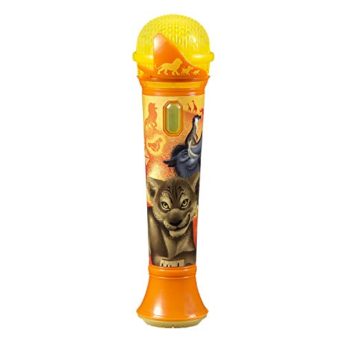 Lion King Sing Along MP3 Microphone Sing to Built in Music Or Connect Your Audio Device & Sing to Whatever You Like