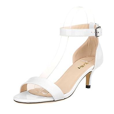 Amazon.com | ZriEy Women Sexy Open Toe Ankle Straps Low Heel ...