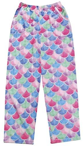 - iscream Big Girls Fun Print Silky Soft Plush Pants - Mermaid Tail, Small
