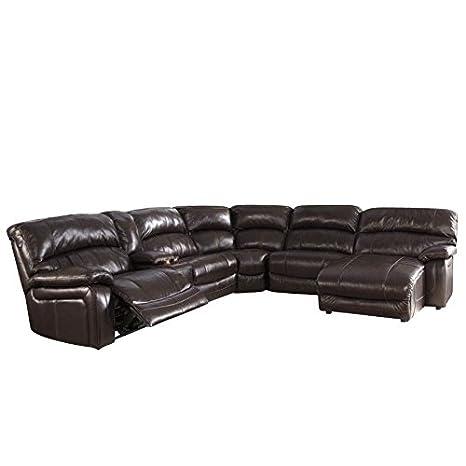 Amazon Com Ashley Furniture Damacio Leather Console Reclining