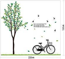 Zooarts Árbol Hierba Bicicleta Pájaros Love extraíble Espacio ...