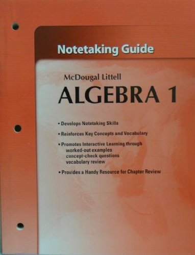 McDougal Littell High School Math Algebra 1: Notetaking Guide