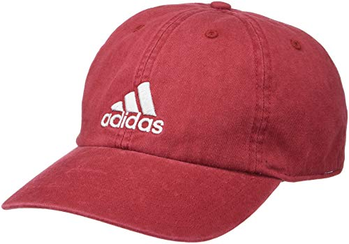 (adidas Men's Ultimate Relaxed Adjustable Cap, Collegiate Burgundy/Clear Grey, One Size)