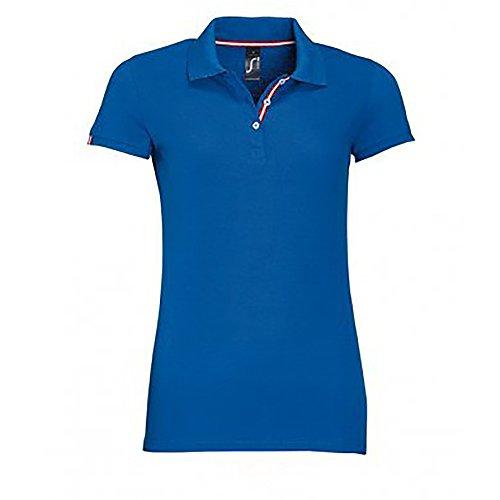 SOLS - Polo de manga corta de algodón piqué modelo Patrior para mujer Azul eléctrico