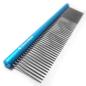 Paws Pamper Professional Anti-Corrosion Grooming Comb for Dogs & Cats, Tapered Stainless Steel Pins 40