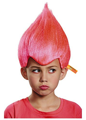 United States of Oh My Gosh Bright Colored Troll Costume Wig - 5 Colors Colored Troll Hair (Pink) -