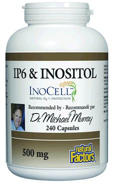 Natural Factors InoCell IP6 naturel à l'inositol Capsules 500mg, 240-comte