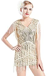 Sequins Beaded Dress Vintage Art Deco