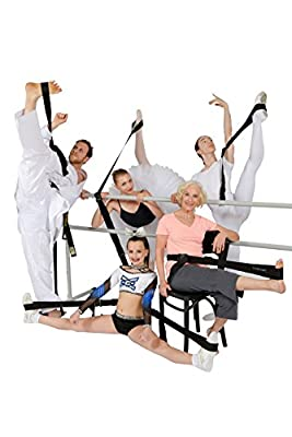 Si-Stretcher Stretching and Flexibility aid for Martial Artists, Dancers, Gymnasts, Cheerleaders, Physical Therapy, Yoga, Pilates & Athletes A Comfortable Stretching Band/Strap