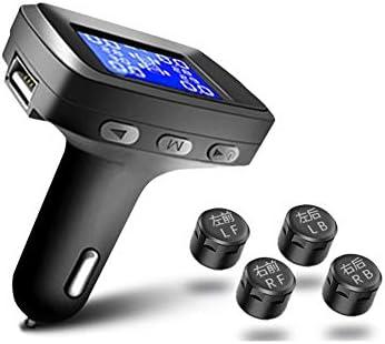 モニターのUSBソケット付きTPMSタイヤ空気圧監視システム4センサー付きシガーライタープラグユニバーサルワイヤレスカーアラームシステムLCDディスプレイ (サイズ さいず : External version)
