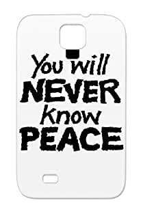 WR0N9wear Funny Peace Deusdiabolus Provocative Black For Sumsang Galaxy S4 Drop Resistant Cover Case