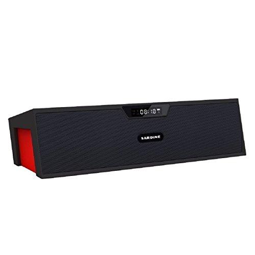 Altavoz Bluetooth, altavoz inalámbrico portátil Megadream® Estéreo de graves Caja de música con tecnología mejorar Tech ofrecen de graves profundos limpias soporte de sonido Bluetooth de graves de son Black&Red