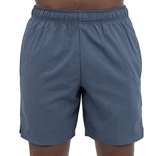 Layer 8 Men's Hybrid All Purpose Stretch Woven Athletic Shorts (Medium, Slate/Chambray)