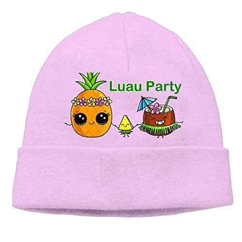 Ghhpws Luau Party Beanie Wool Hats Knit Skull Caps Warm Winter Beanies for Men Women Pink -