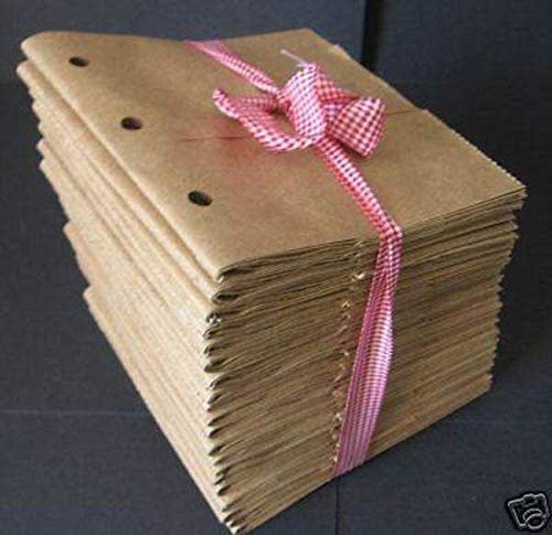 Kraft Brown 7x7 paper bag albums 20 Paper bag Scrapbooks