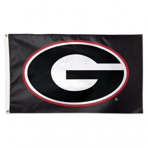 Georgia Bulldogs Black UGA 3 x 5 Foot NCAA Flag