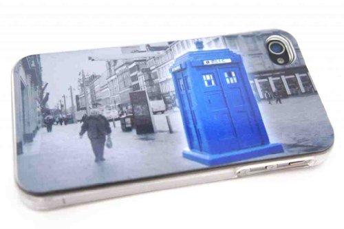 B-Doctor Who Tardis Police Call Box Stil Designer iphone 4 4S Hülle Case Back Cover Metall und Kunststoff-Löschen Frame